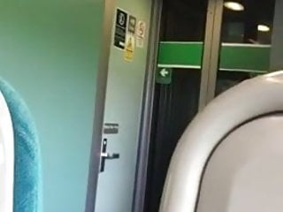 Flashing on a uk train him and her