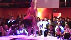 Porn on stage stripper fucked at the party on the bar