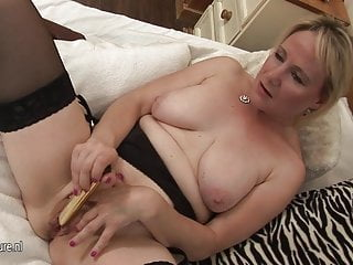 European housewife mother masturbate alone