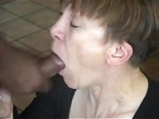 Mature interracial gallery - Mature interracial blowjob and cumshot