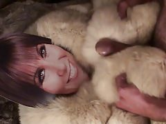 Playing with Linda Lusardi in fur