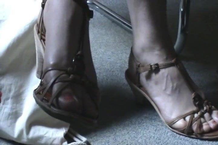 Friend's feet in sandals 13