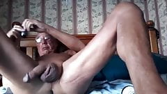 horny game of the grandpa in the cam