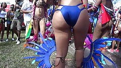Candid carnival Latina Booty