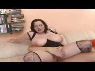 France # Brunette Milf with Huge Boobs doing young Guy