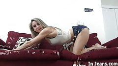 Is my denim thong making you all horny JOI