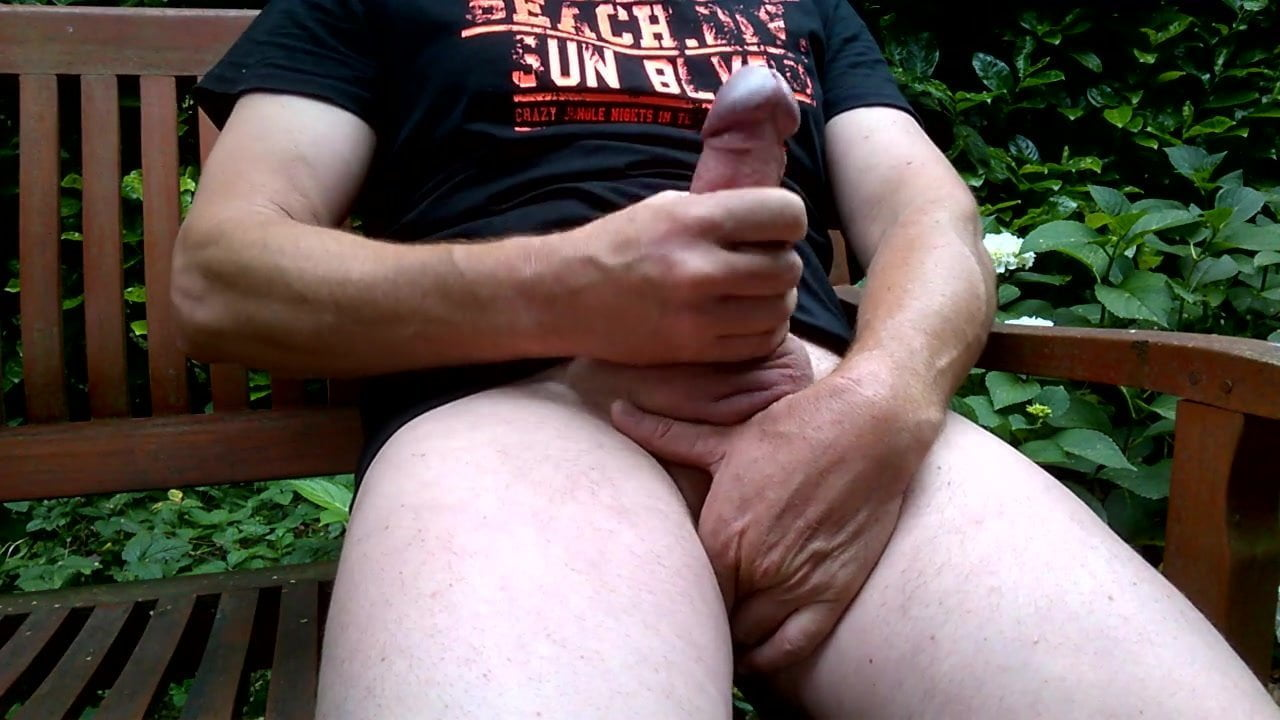 Girl masterbating in the park
