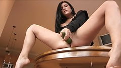 Mature wife with cucumber dildo consider, that