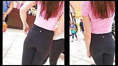 Teen Voyeur - Pink Shirt Leggings