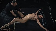 BDSM Teen slave spanked with whip in fetish porn video's Thumb