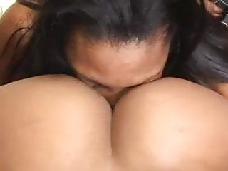Hot Ebony Teen Licks Her Friends Pussy