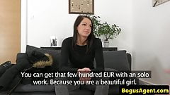 Auditioning euro creampied after riding cock