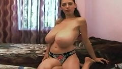 Meri bedroom flashing and playing