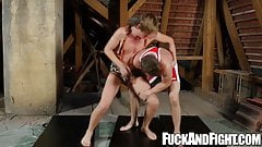 Hung jock has anal sex with a twink after wrestling practice