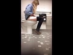 Cute college teen bathroom spy cam (1 of 7)