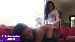 Frenchmaid traps analfucking in lesbian duo
