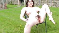 Hairy Girl Pissing Outside