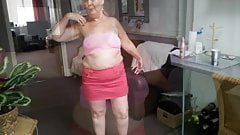 Granny strips naked