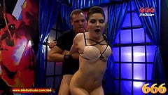 666Bukkake - Francesca DiCaprio gets her ass fucked in piss