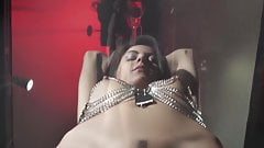 Hot Latina Girl in Harness Bondage Fucked