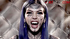 HO HUNTERS - Tattooed ghost Amber Luke wants to fuck