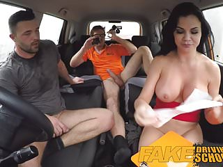 Preview 6 of Fake Driving School pussy creampie and anal sex