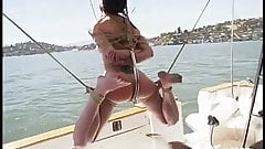 Tied on a boat