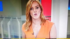 Sarah Jane Mee reveals her bra live on Sky News