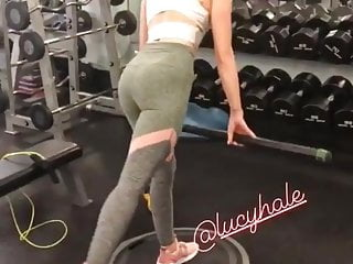 Lucy Hale working out