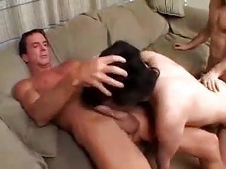 Young Amateur Brunette Casted By Two Old Men...F70