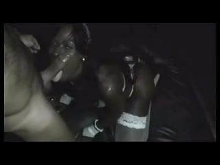 Black slut gets a white stud at the club
