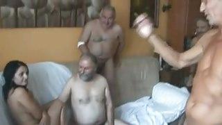 18y Teen fucked by 5 Old Men