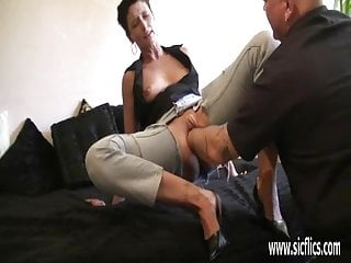 Brutally fisting the wifes huge greedy pussy