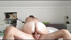 Amateur wife tricks friend into eating cum