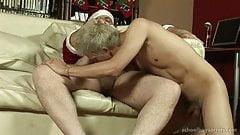 Fuck with Chubby santa Daddy Bear