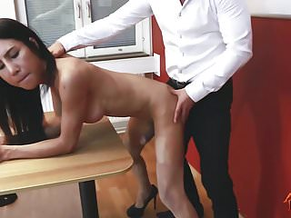 Preview 3 of Ladyboy Thippy - Office facial cum