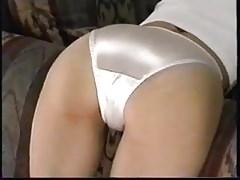 Satin panty ass