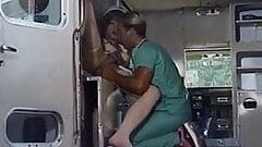 Pretty shemale nurse gets anal