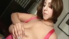 big titty woman milking her boobs