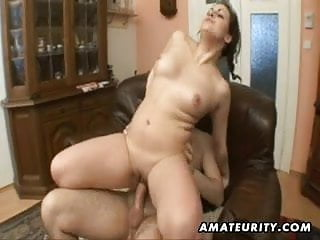Chubby girlfriend sucks and fucks with facial cumshot