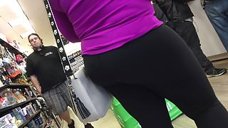 Blonde Milf in Yoga Pants with VPL (Part #3)