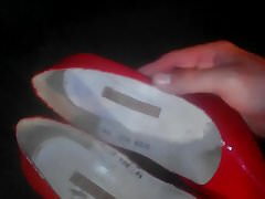 cuming red patent leather pumps