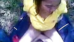 asian girl fucked outdoor and cum on her body