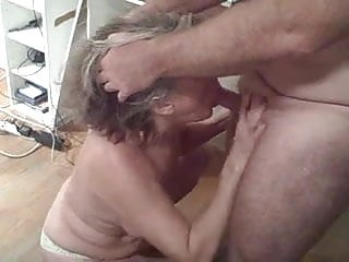 My slut wife sucking off one of her many swinging partners
