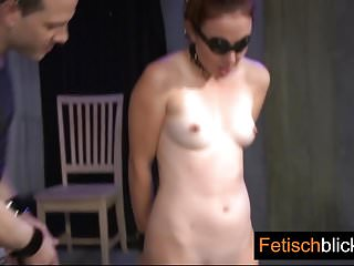 Big titted pussy in fishnet getting hard stiff black cock to