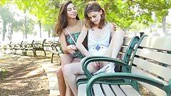 18 year lesbian public flash 1