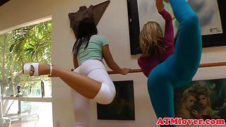 Alluring bigbooty babes enjoy lesbian action