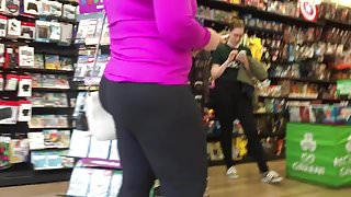 Blonde Milf in Yoga Pants with VPL (Part #1)