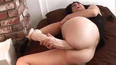 Monster dildo in the pussy
