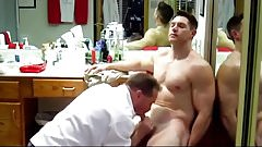 Big Dick Muscle Solider Gets Serviced ( Blowjob JO & Cum )